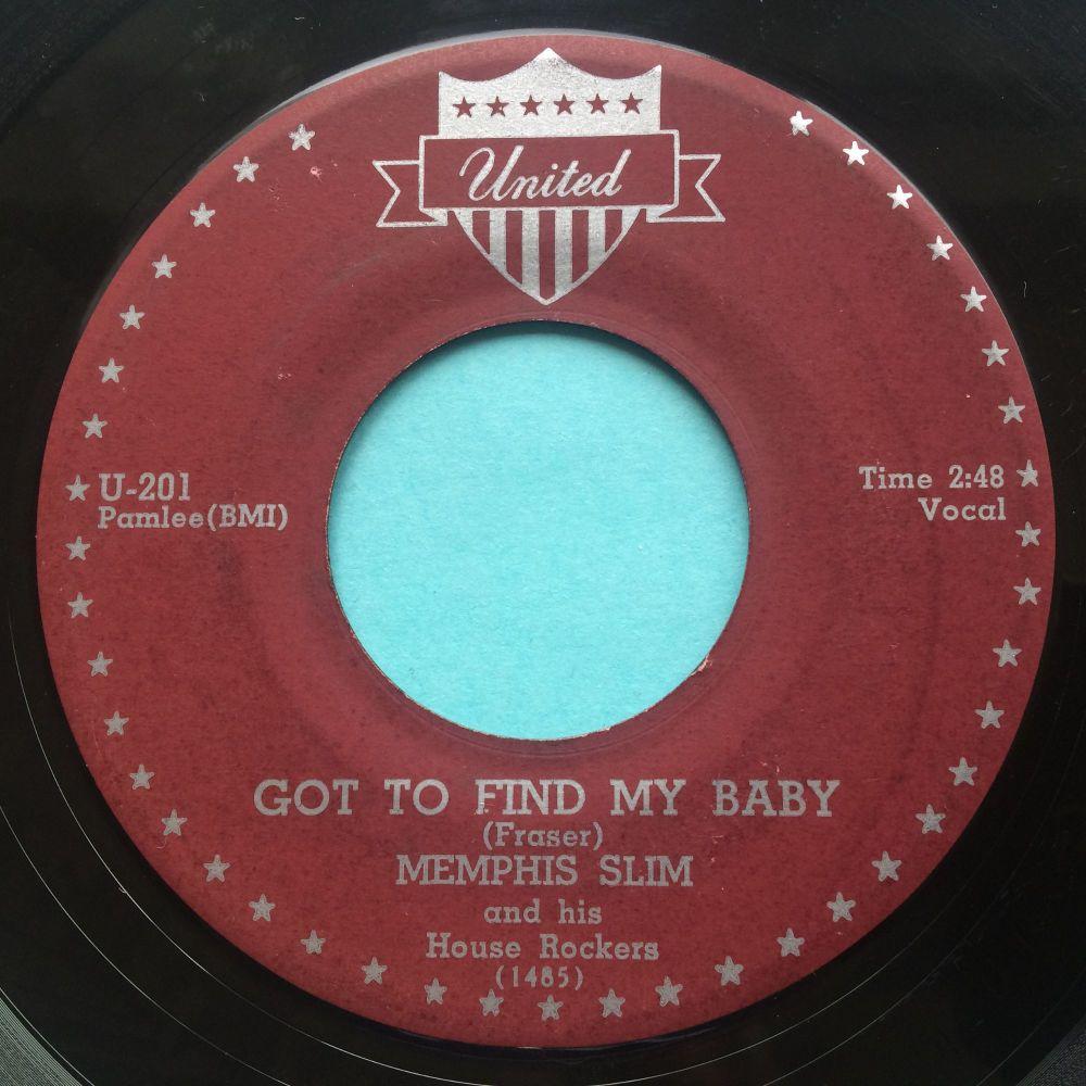 Memphis Slim - Got to find my baby - United - VG+
