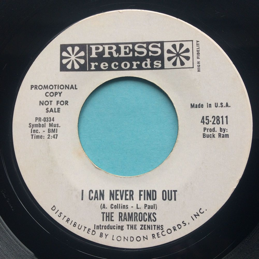 Ramrocks - I can never find out - Press promo - Ex-