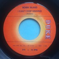 Bobby Bland - I can't stop singing - Duke - Ex-