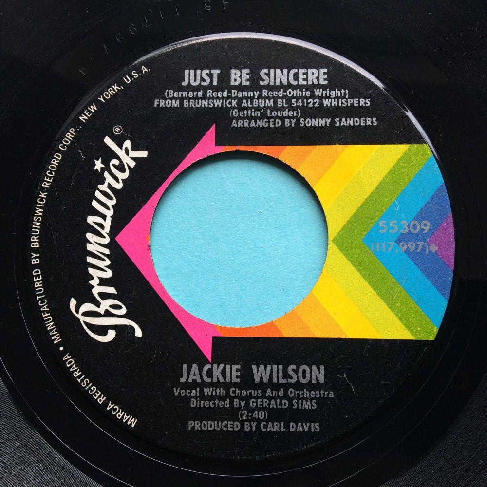 Jackie Wilson - Just be sincere - Brunswick - Ex-