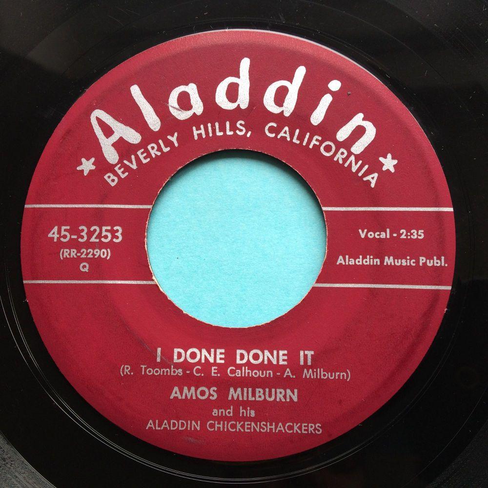 Amos Milburn - I done, done it b/w Vicious, vicious vodka - Aladdin - Ex-