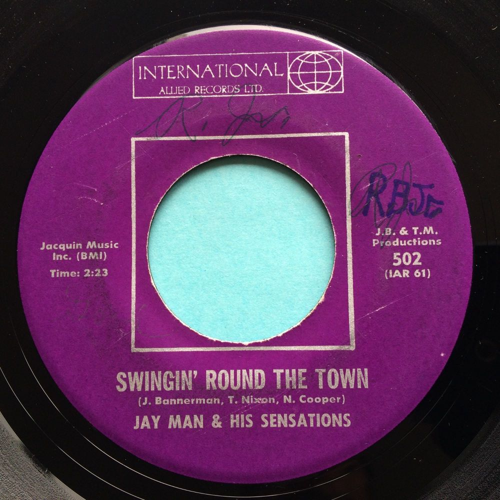 Jay Man & his Sensations - Swingin' round the town b/w The Sloppy Joe - International Allied - Ex- (wol)