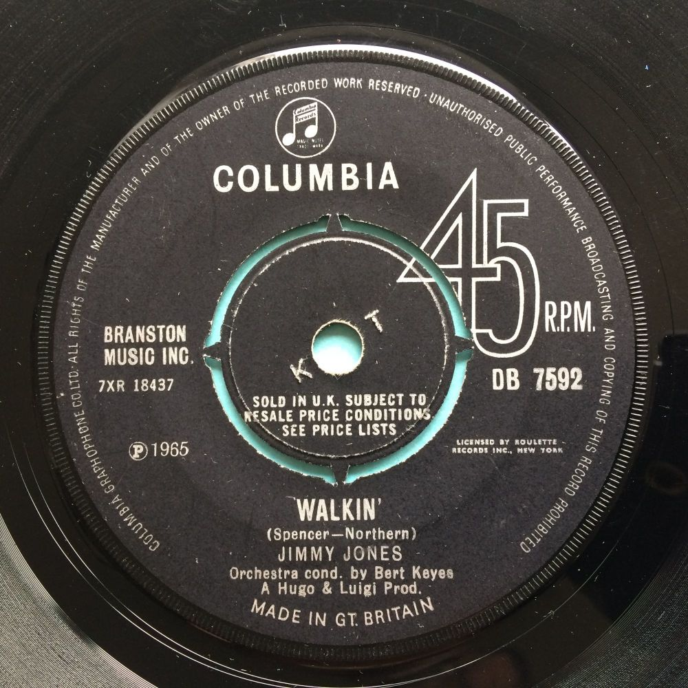 Jimmy Jones - Walkin' - U.K. Columbia - VG+