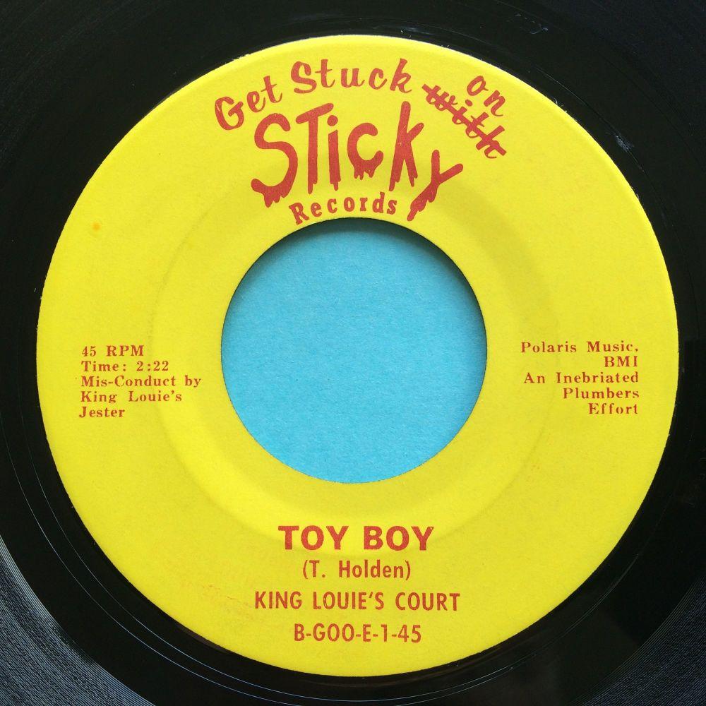 King Louie's Court - Toy Boy b/w King Louie's Glue - Sticky - Ex-