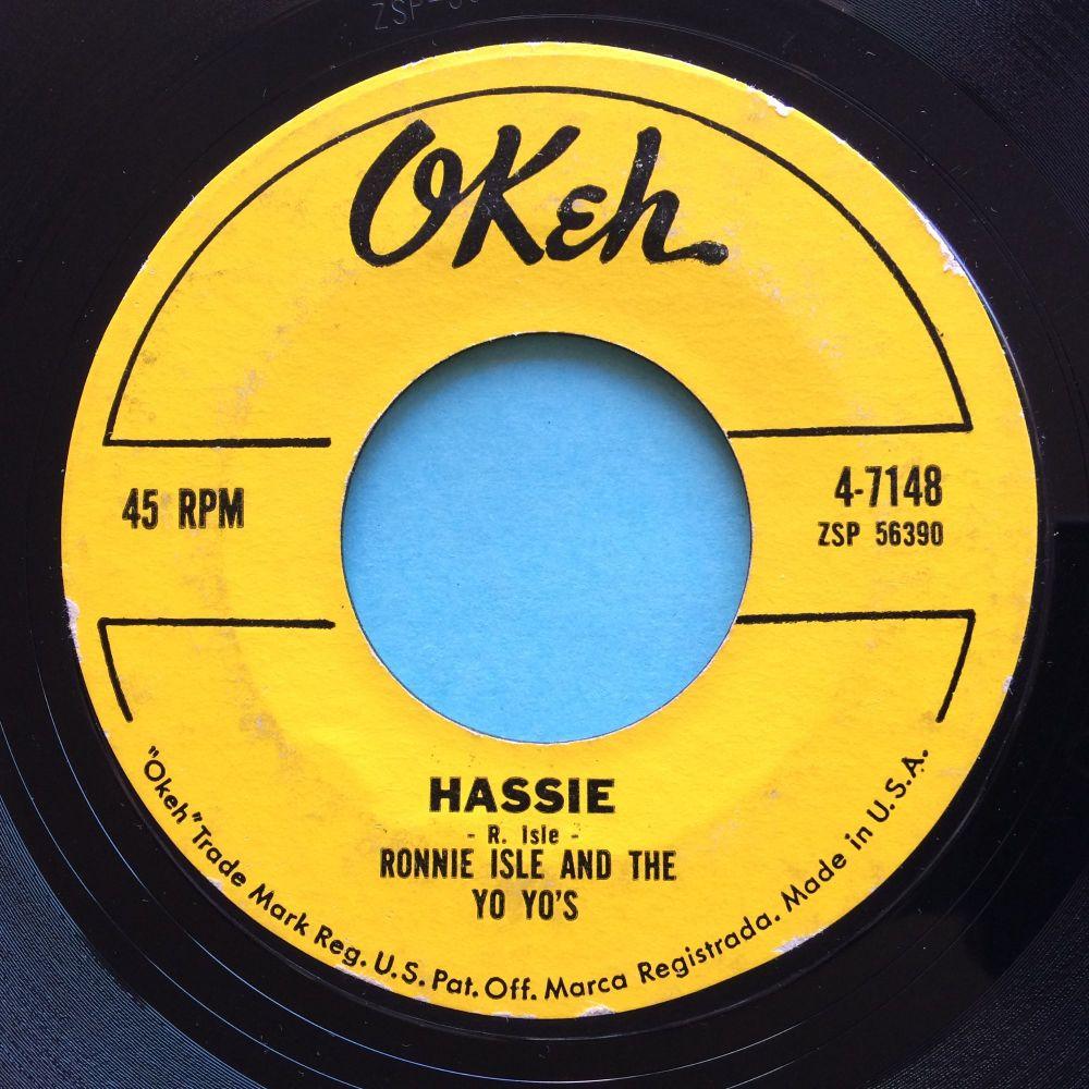 Ronnie Isle & Yo Yo's - Hassie - Okeh - VG+