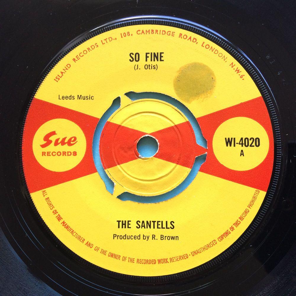 Santells - So fine b/w These are love - U.K. Sue - Ex