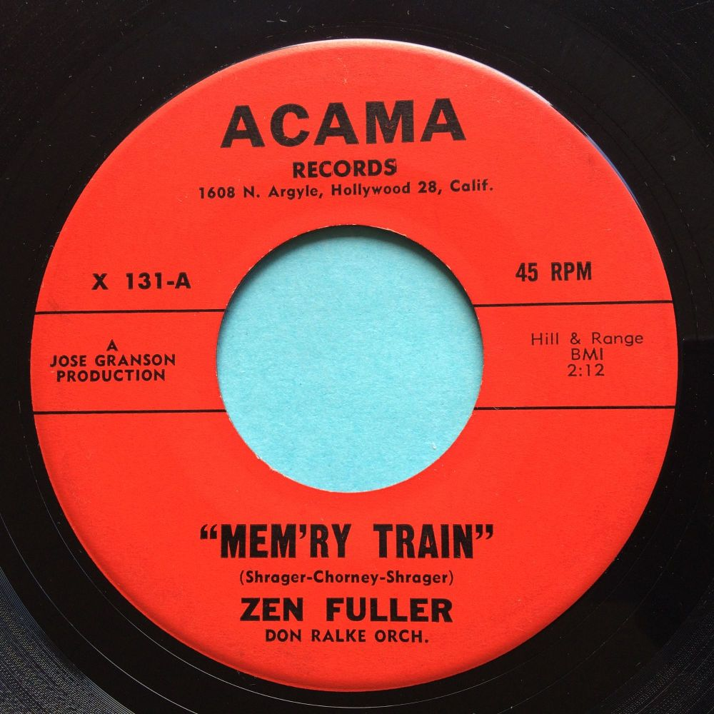 Zen Fuller - Mem'ry train - Acama - VG+