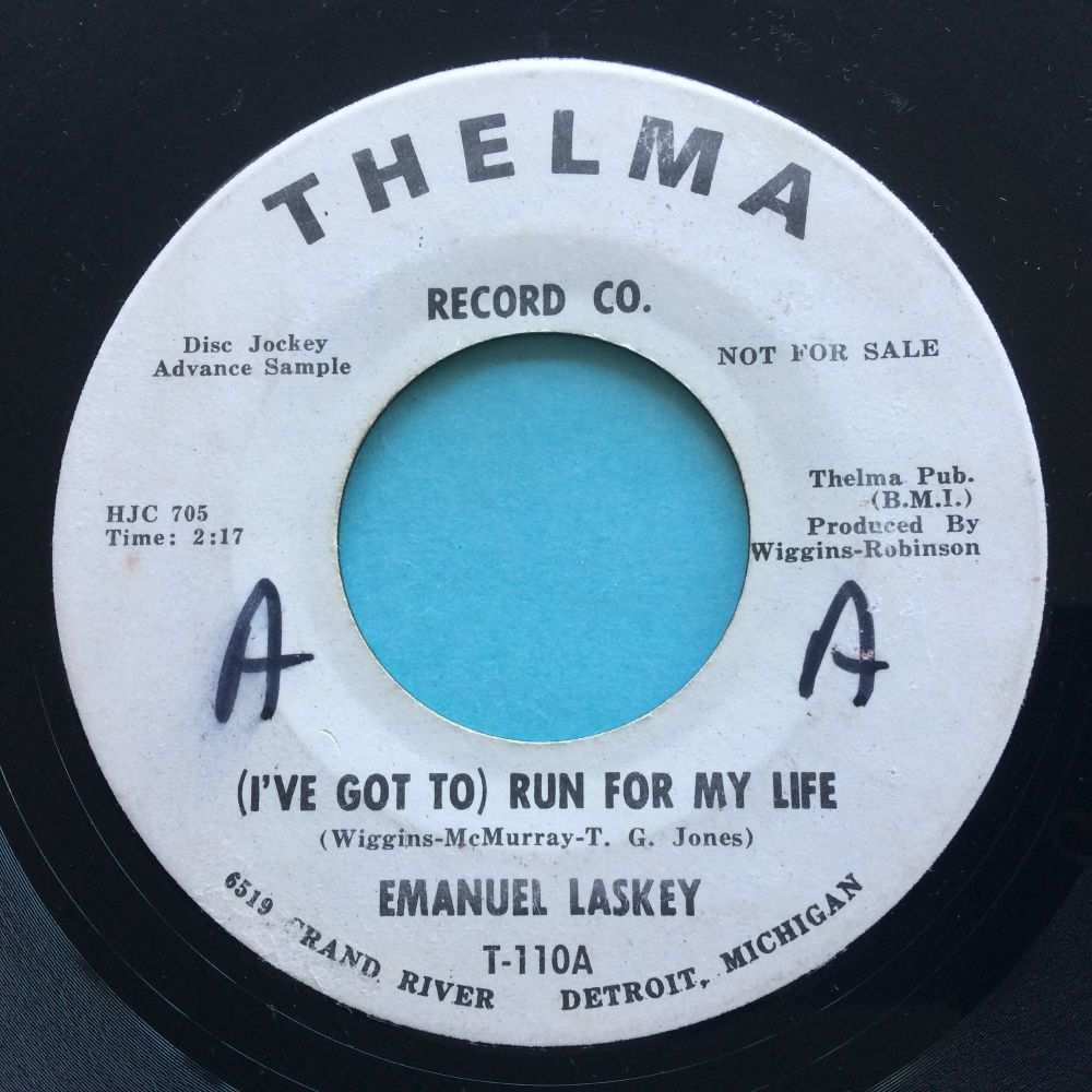 Emanuel Lasky - I've got to run for my life - Thelma promo - VG+