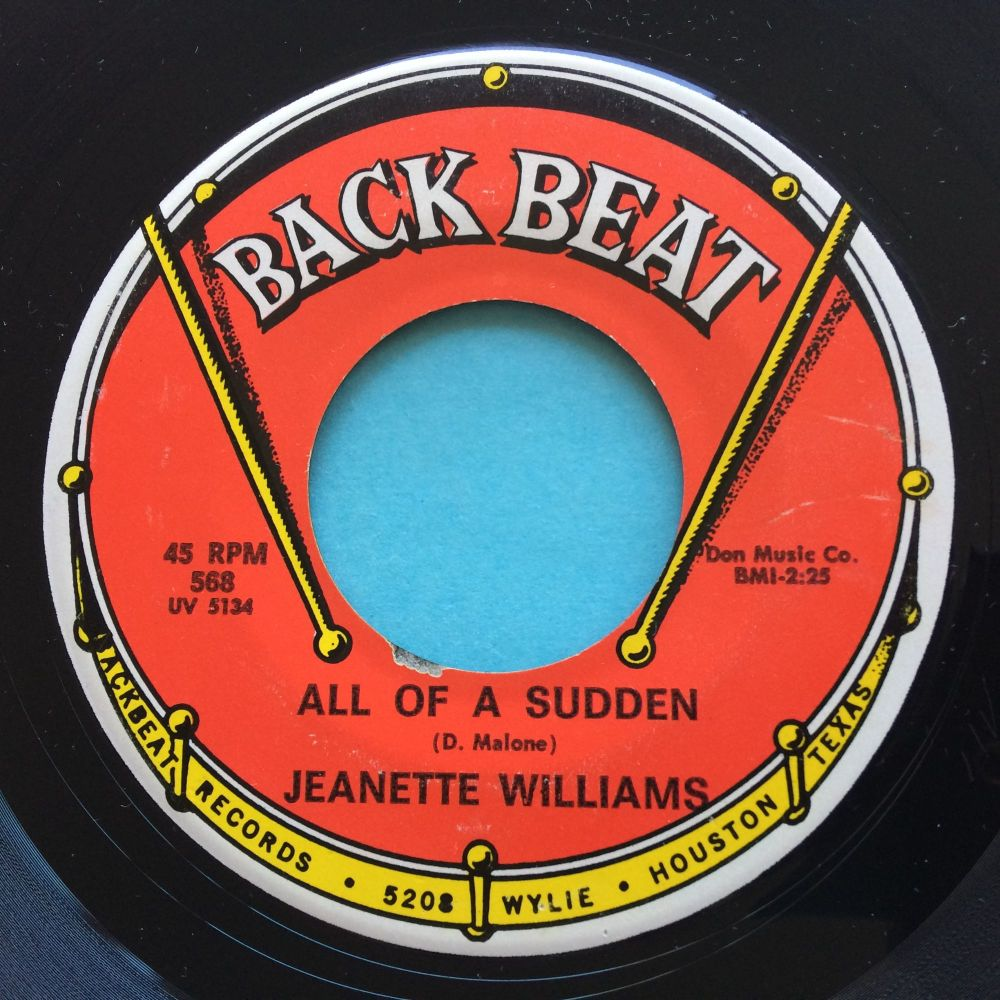 Jeanette Williams - All of a sudden - Backbeat - Ex