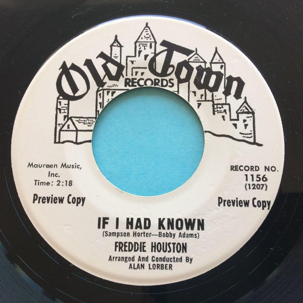 Freddie Houston - If I had known - Old Town promo - Ex
