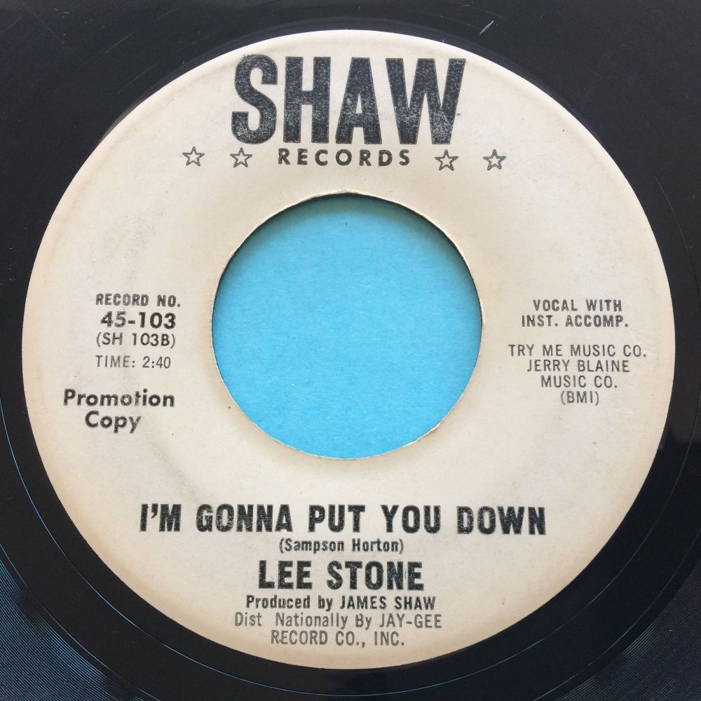 Lee Stone - I'm gonna put you down - Shaw promo - VG+