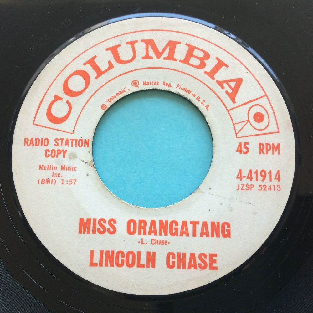 Lincoln Chase - Miss Orangatang - Columbia promo - looks VG plays VG+