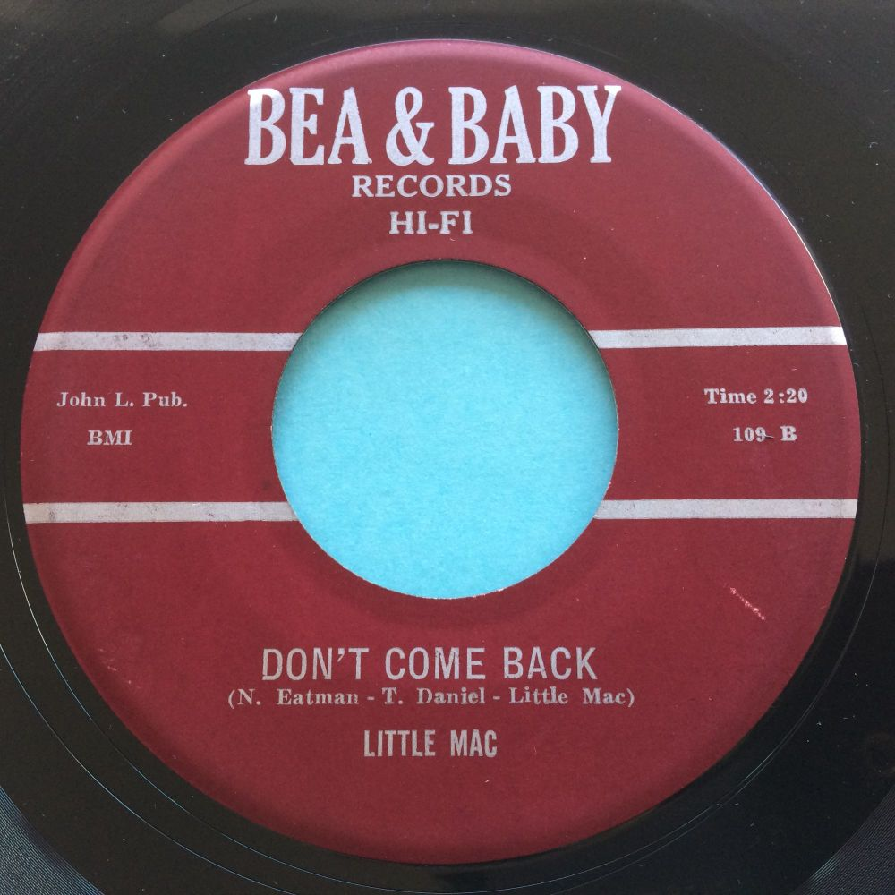 Little Mac - Don't come back  b/w Things are getting tougher - Bea & Baby - Ex