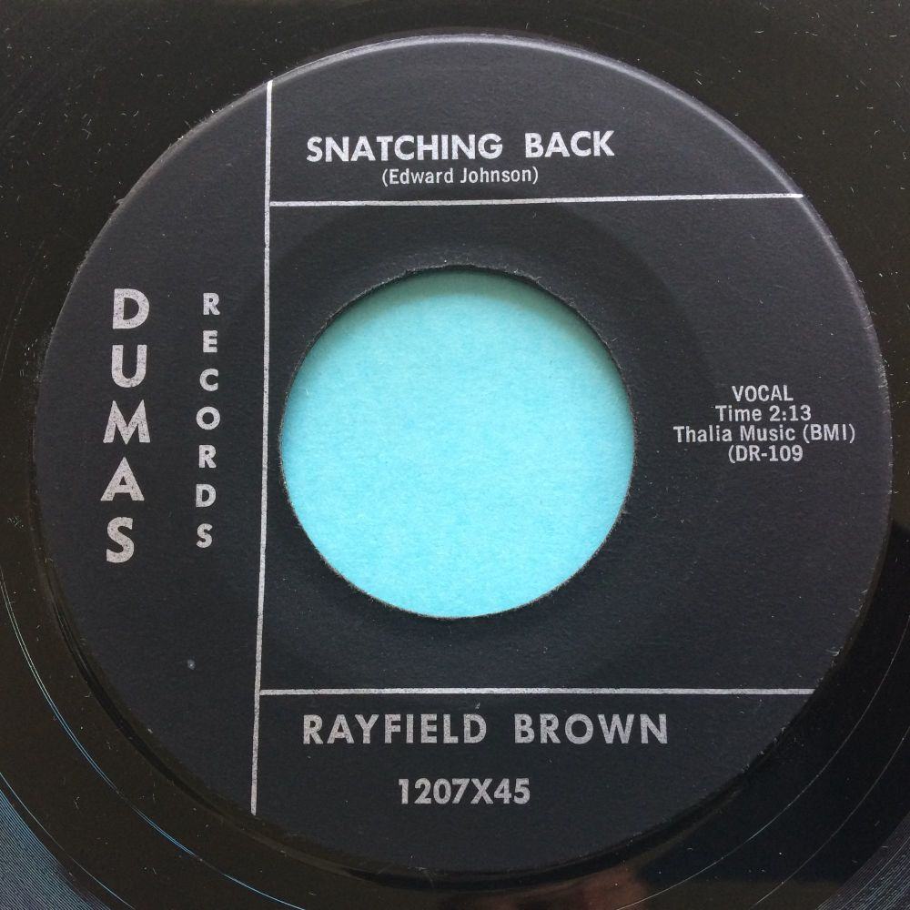 Rayfield Brown - Snatching back - Dumas - Ex