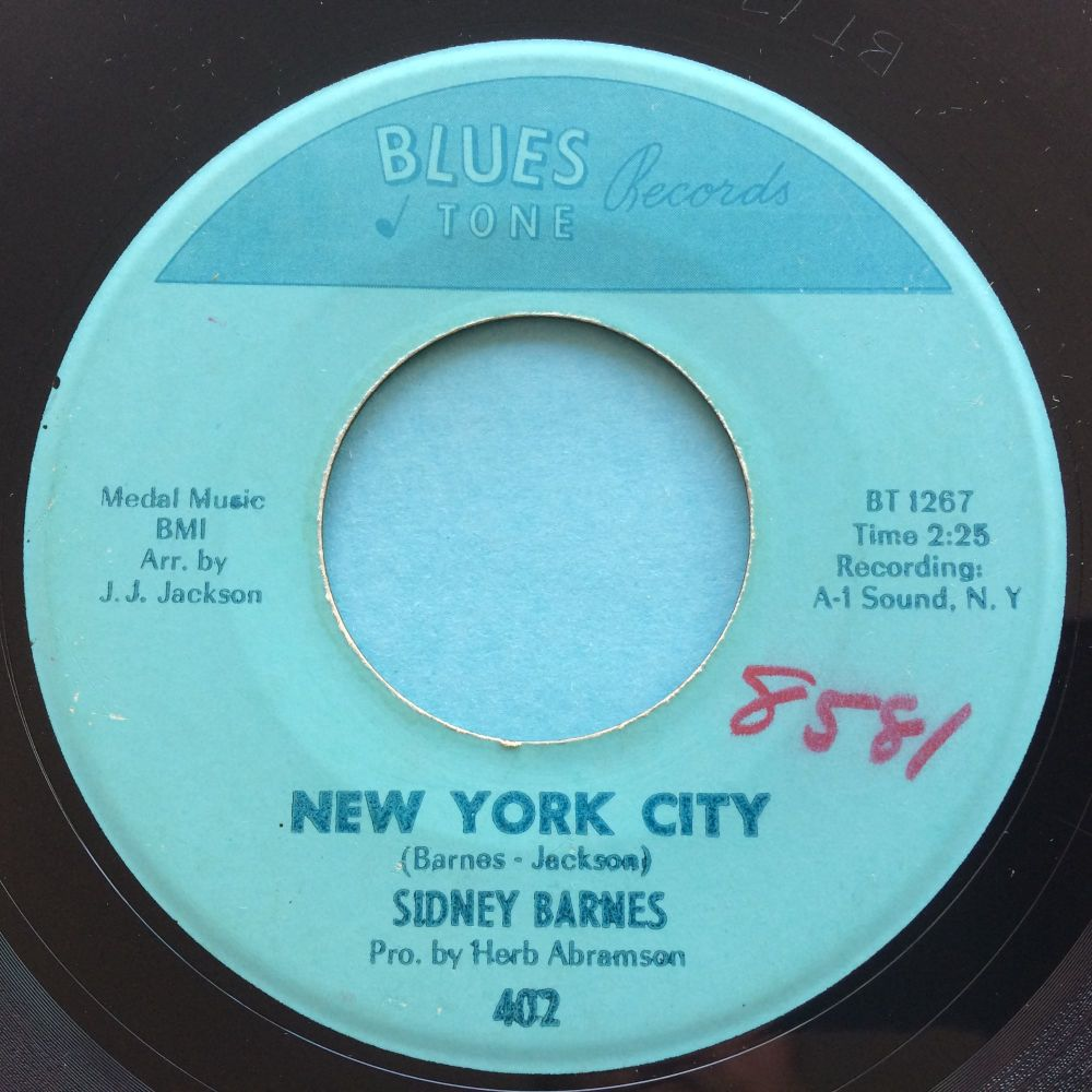 Sidney Barnes - New York City b/w Talkin' 'bout a shindig - Blues Tone -  Ex-