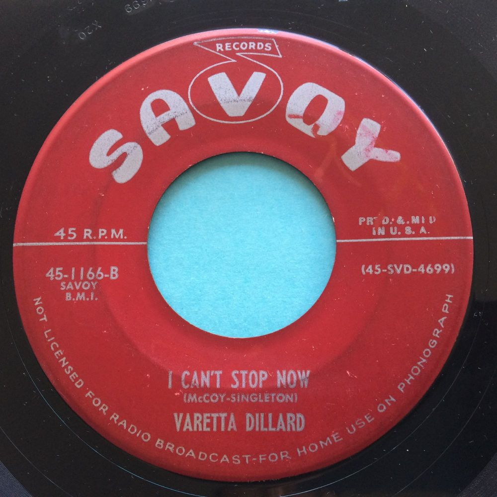 Varetta Dillard - I can't stop now - Savoy - VG+
