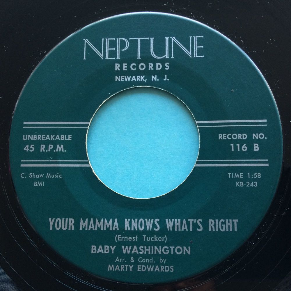 Baby Washington - Your mamma knows what's right - Neptune - Ex-