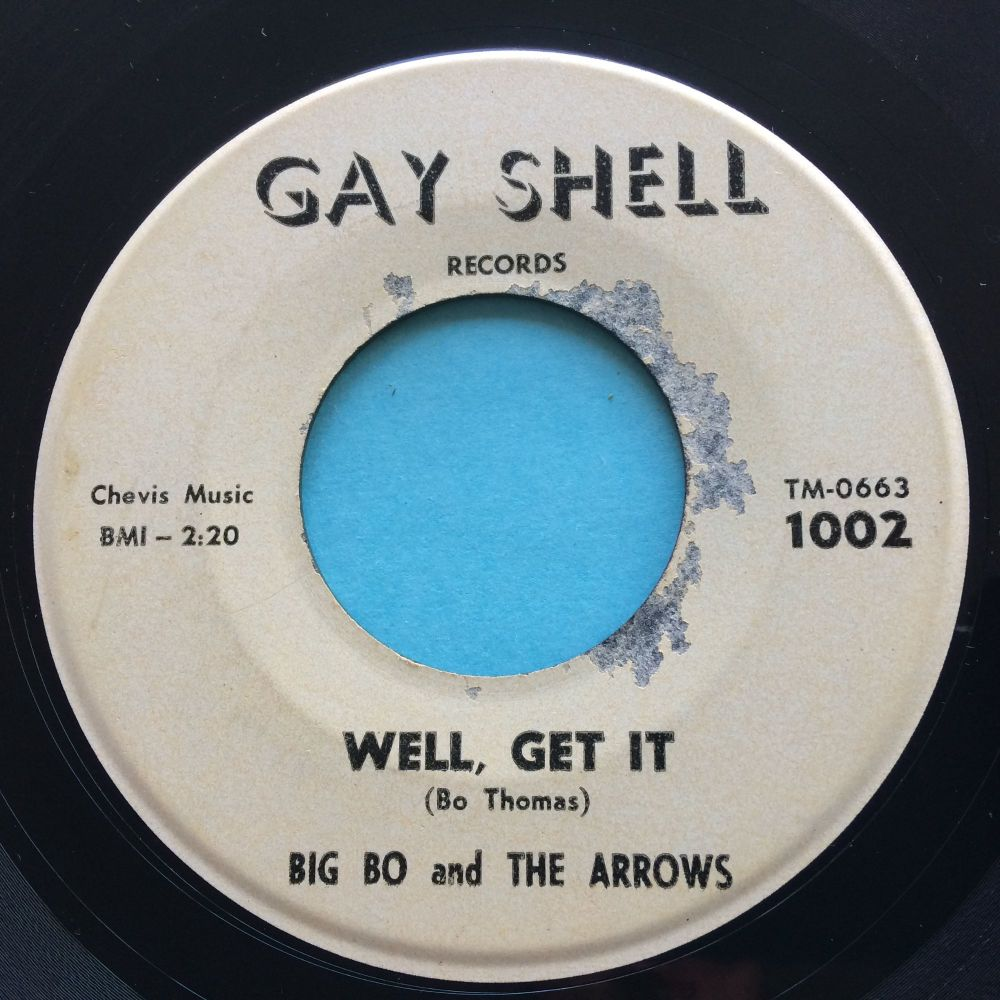Big Bo and The Arrows - Peacock Stomp b/w Well get it - Gay Shell - VG+ (so