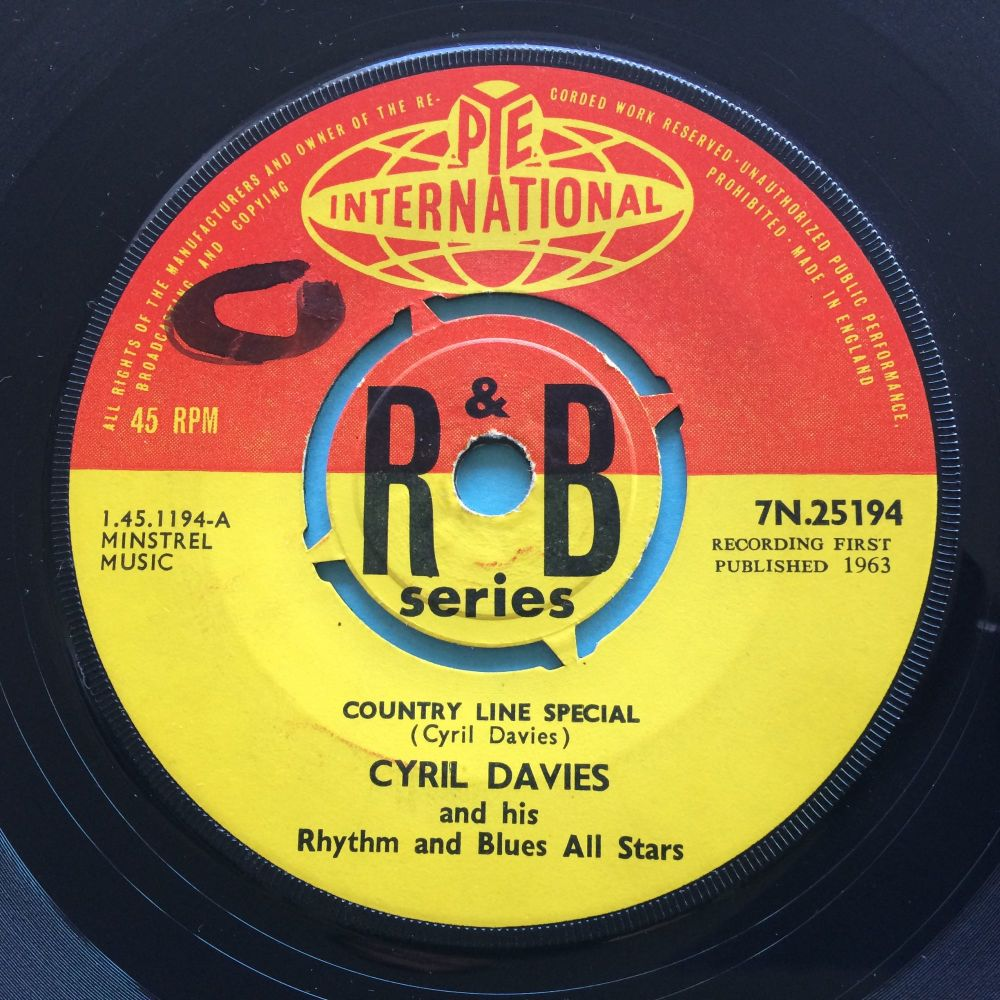 Cyril Davies and his Rhythm and Blues All Stars - Country Line Special b/w Chicago Calling - U.K. Pye International R&B Series - Ex- (swol)
