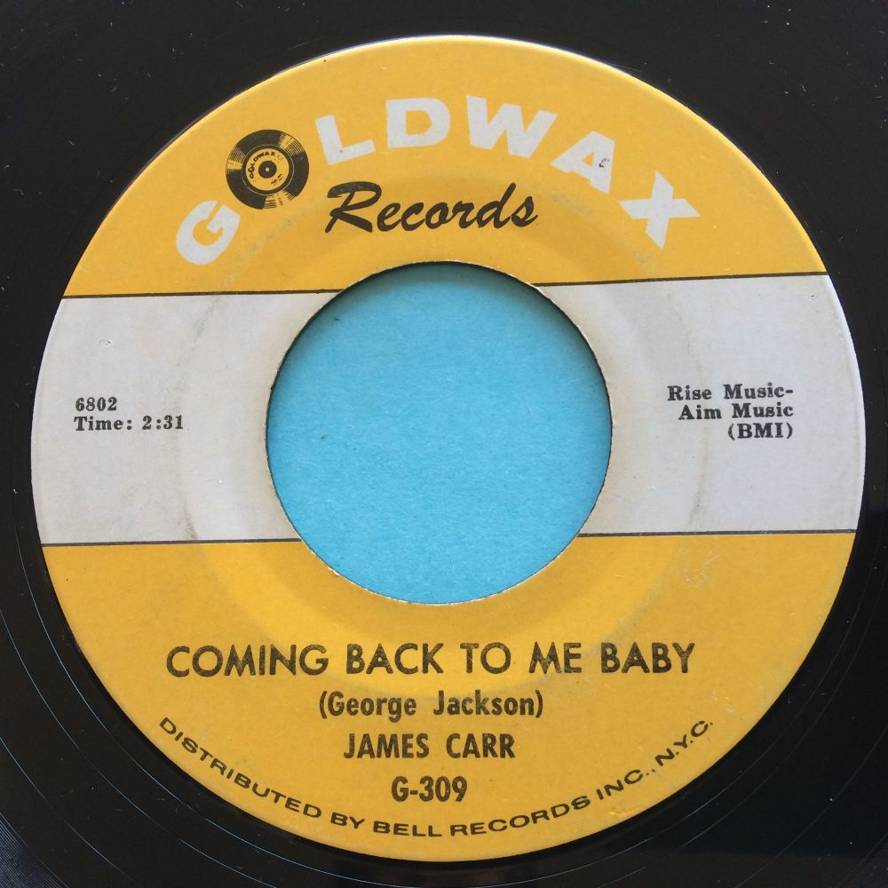 James Carr - Coming back to me baby - Goldwax - Ex-