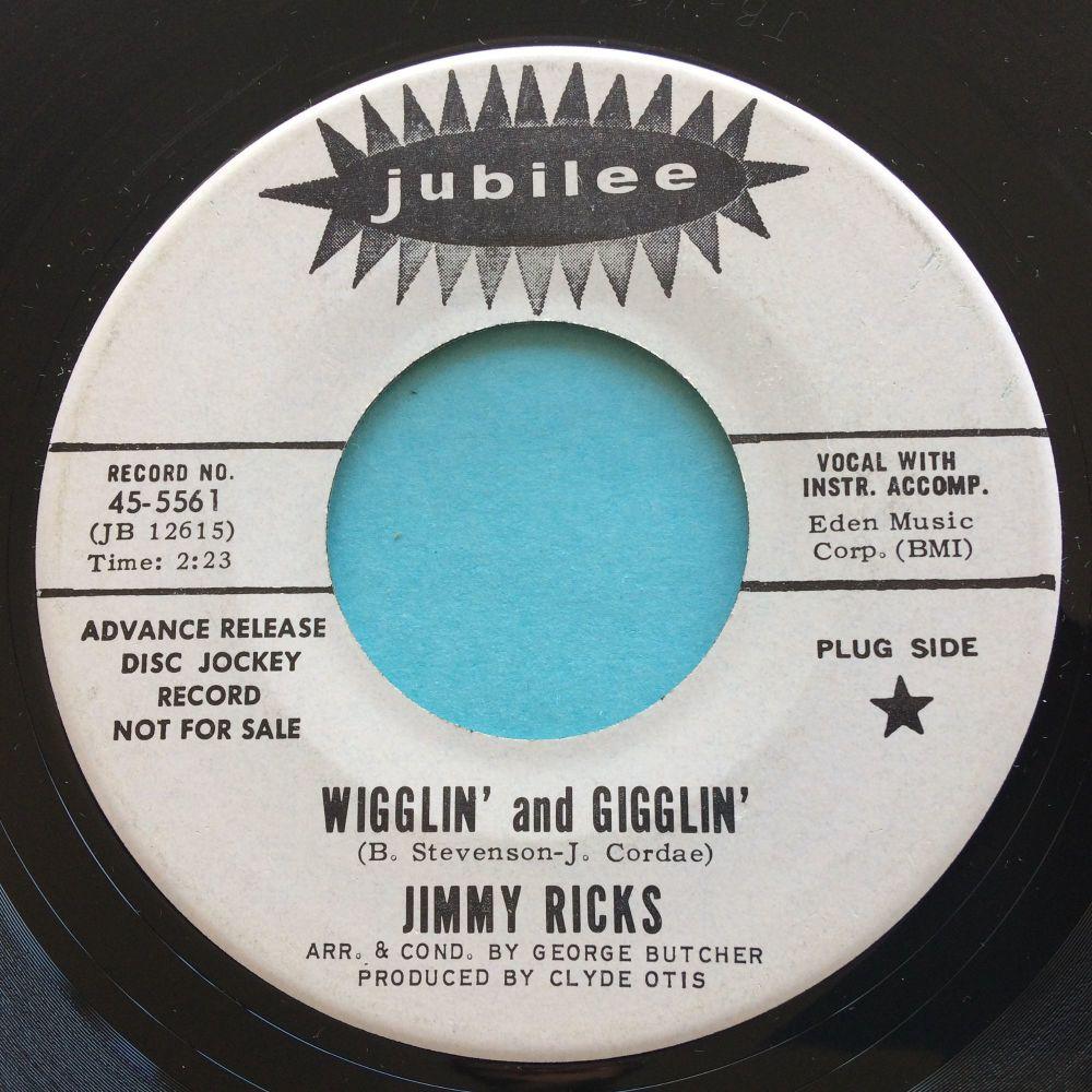 Jimmy Ricks - Wigglin' and gigglin' - Jubilee promo - Ex-