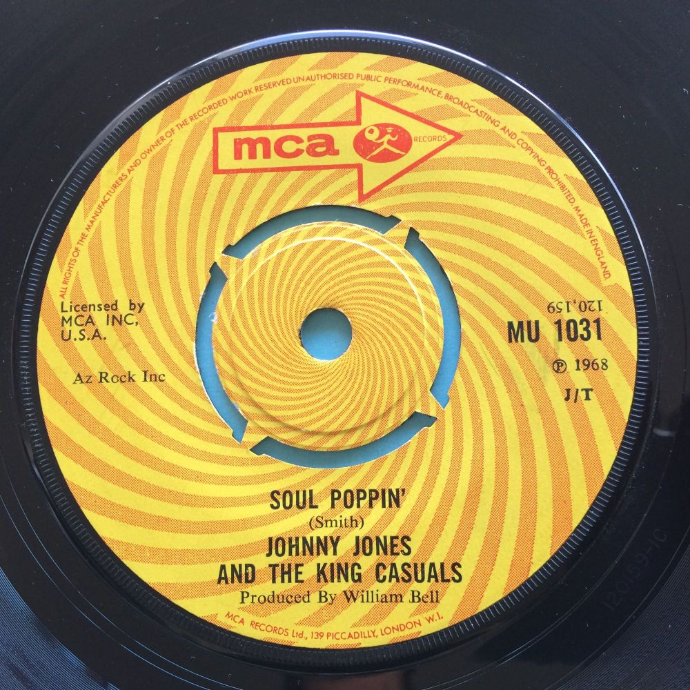 Johnny Jones and the King Casuals - Soul Poppin - U.K. MCA - Ex-