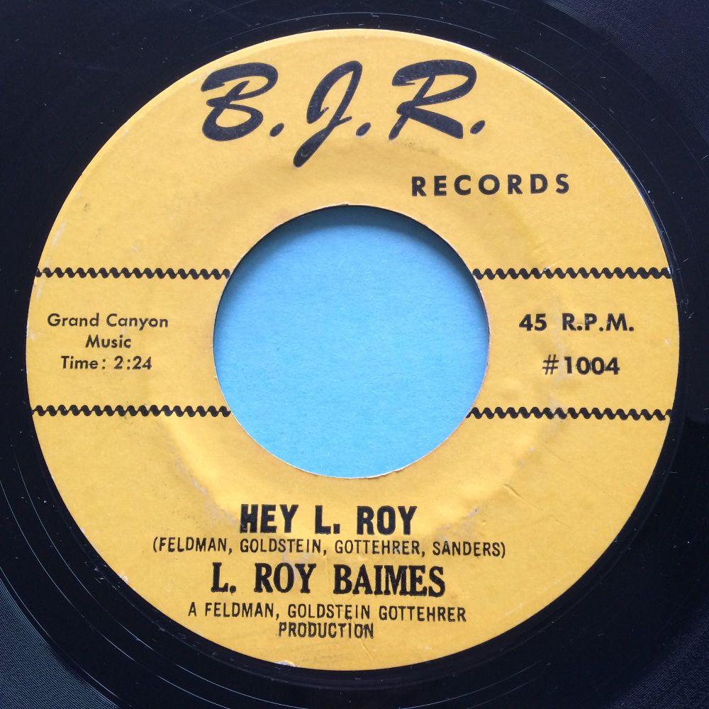 L. Roy Baimes - Hey L. Roy - BJR - VG+