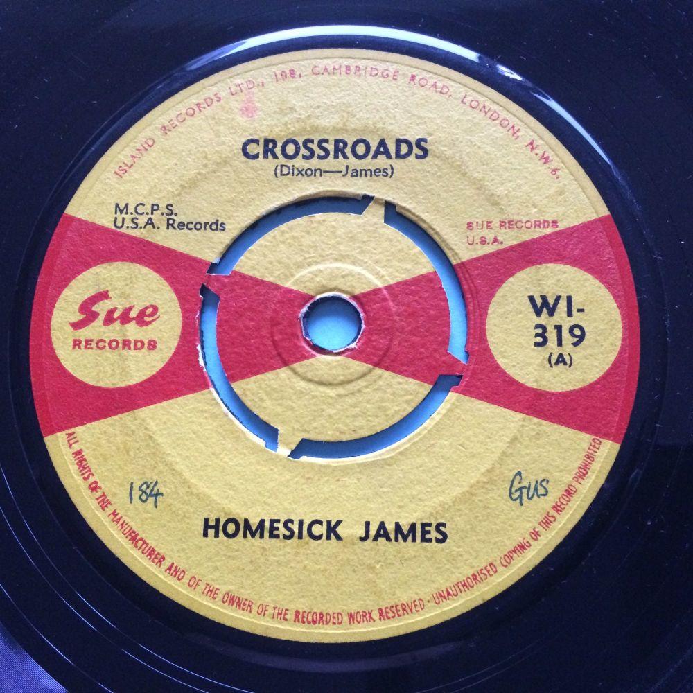 Homesick James - Crossroads b/w My baby's sweet - UK Sue - Ex-