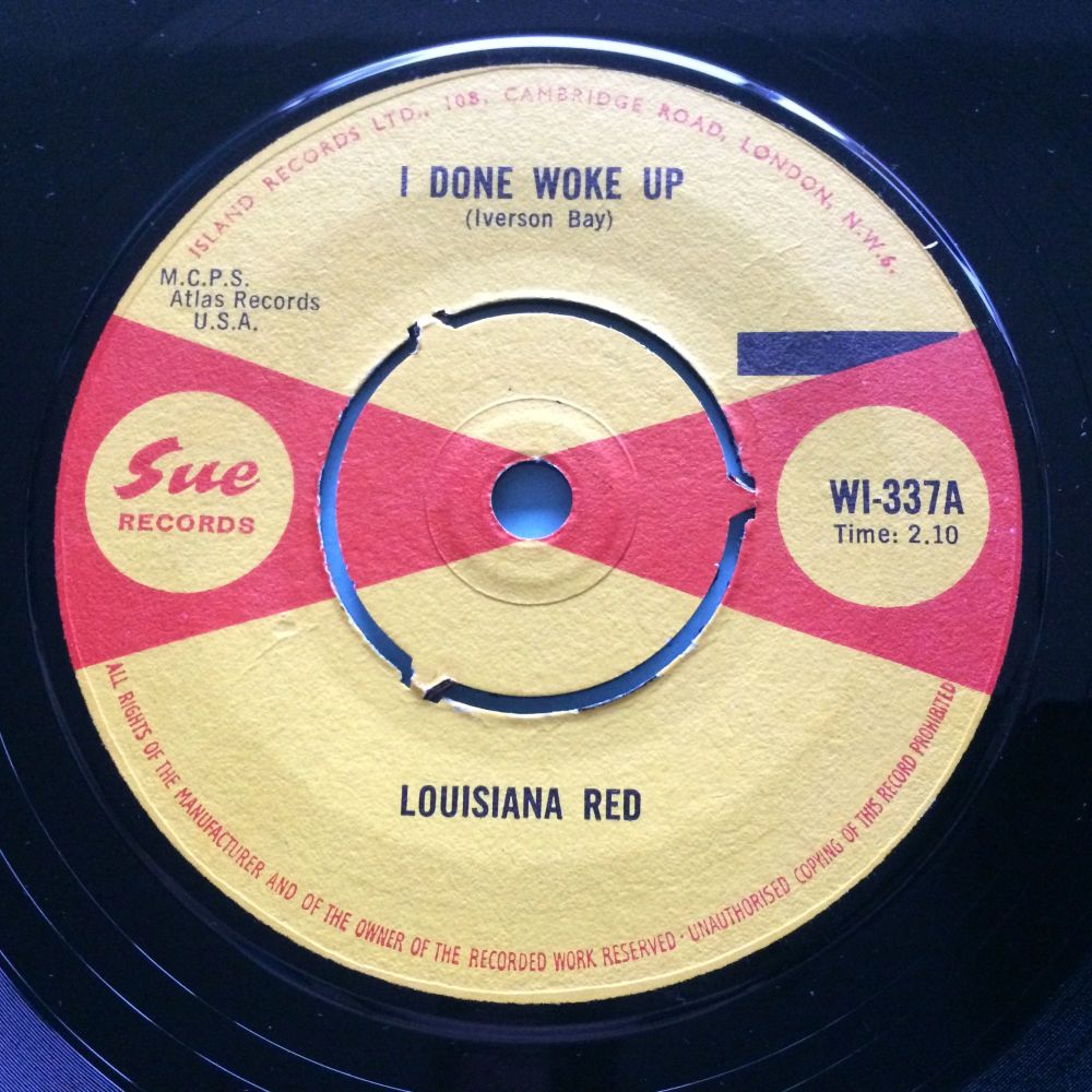 Louisiana Red - I done woke up b/w I had a feeling - UK Sue  - Ex