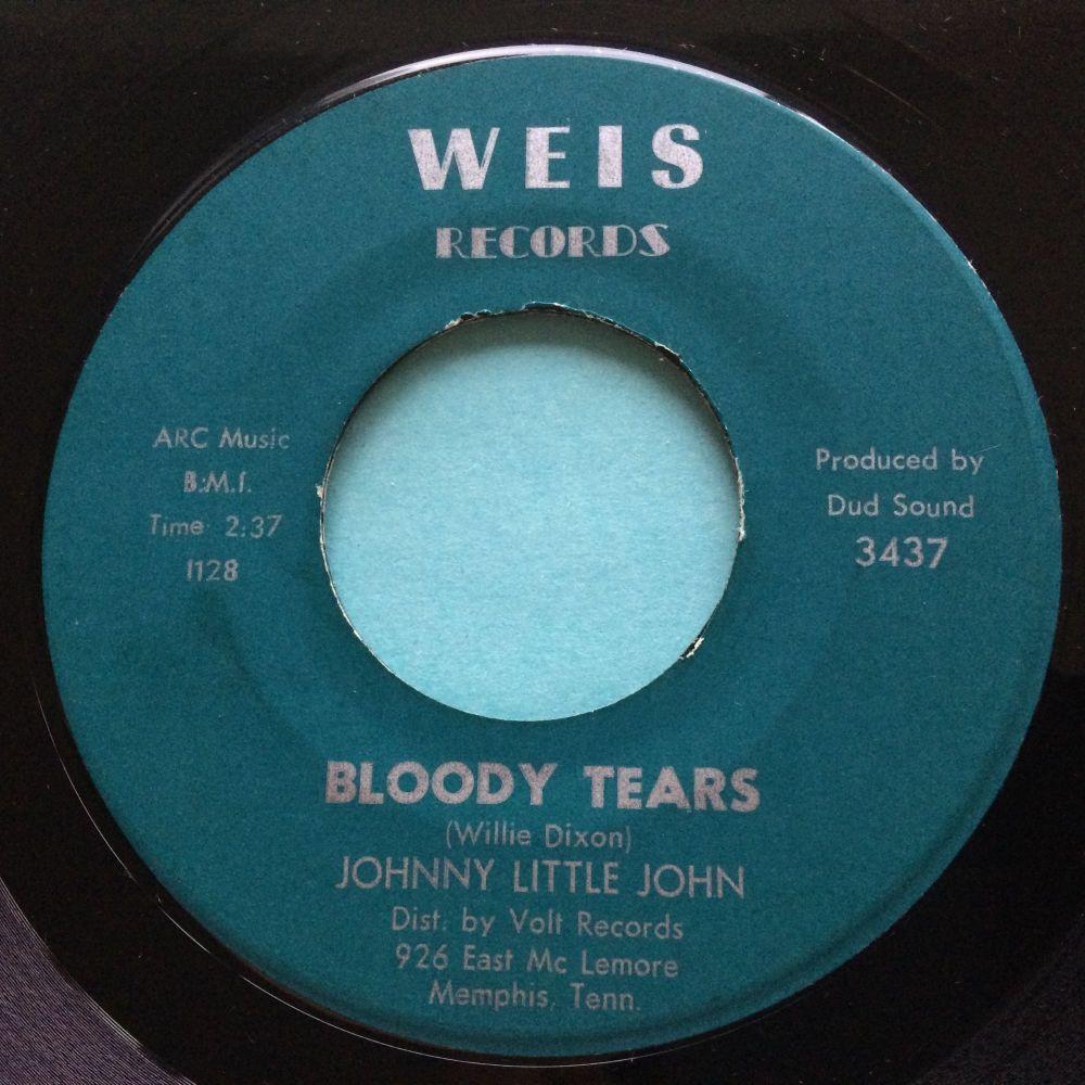 Johnny Little John - Bloody Tears b/w Just got into town - Weis - Ex-
