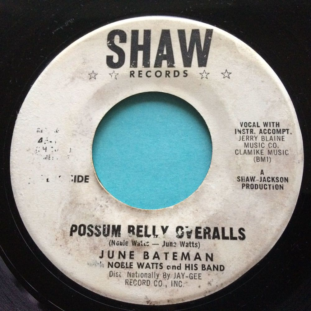 June Bateman - Possum Belly Overalls - Shaw promo - VG+