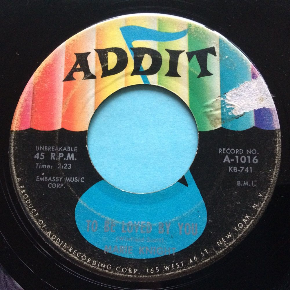 Marie Knight - To be loved by you - Addit - VG+ (label tear)