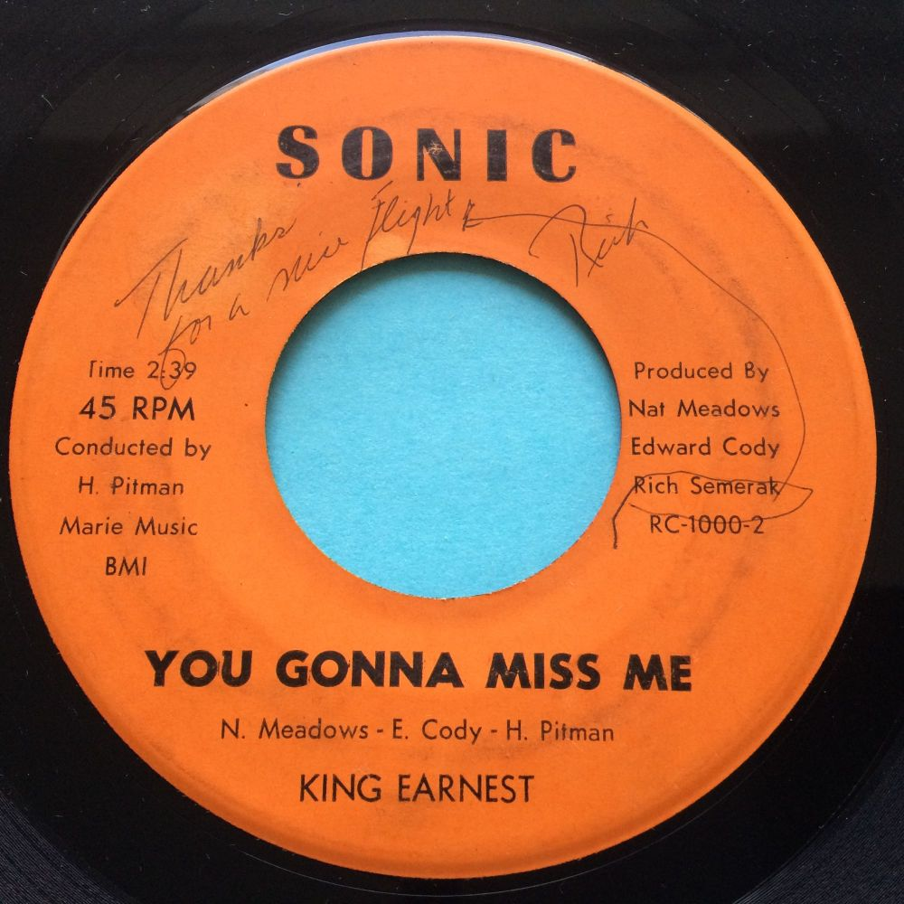 King Eanest - You gonna miss me - Sonic - VG+