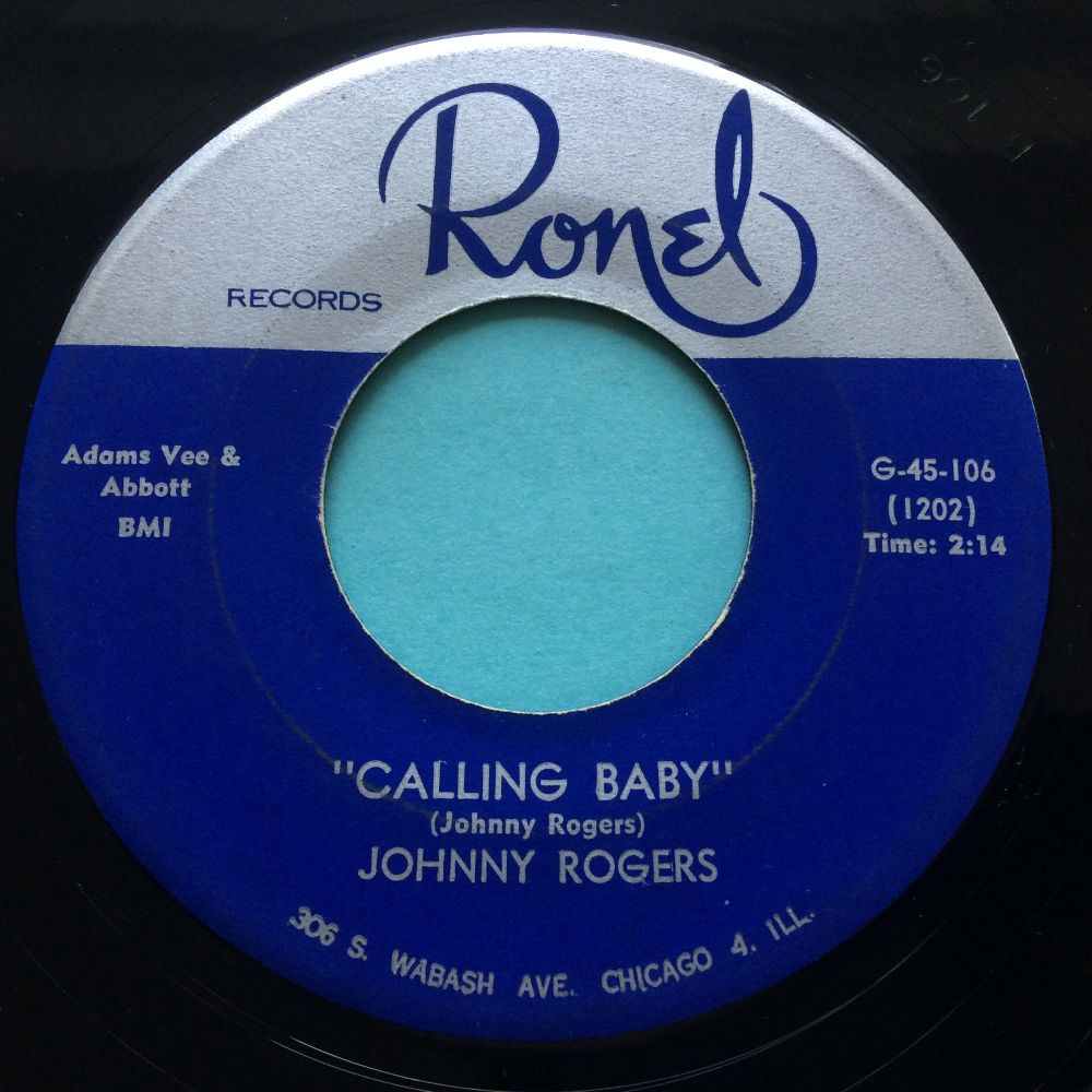 Johnny Rogers - Calling Baby - Ronel - Ex