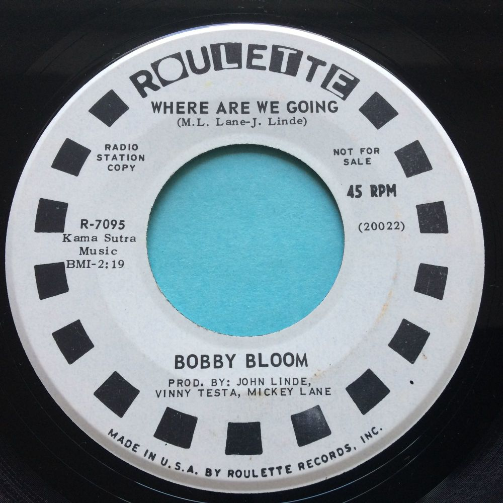 Bobby Bloom - Where are we all going - Roulette promo - Ex