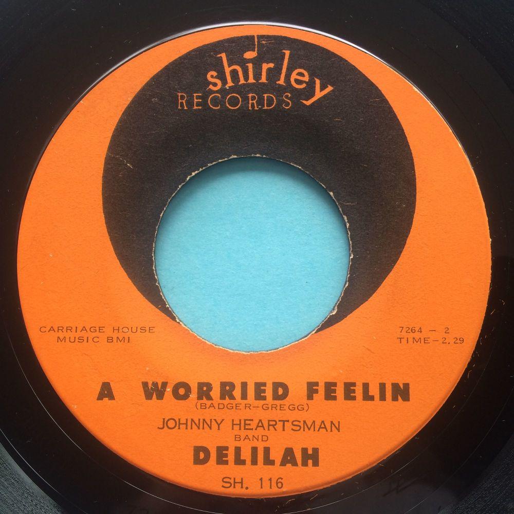 Delilah - A worried feelin b/w I'll rock you baby - Shirley - Ex-