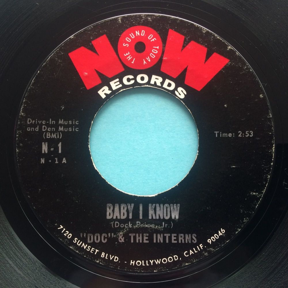 Doc & The Interns - Baby I know - Now - VG+