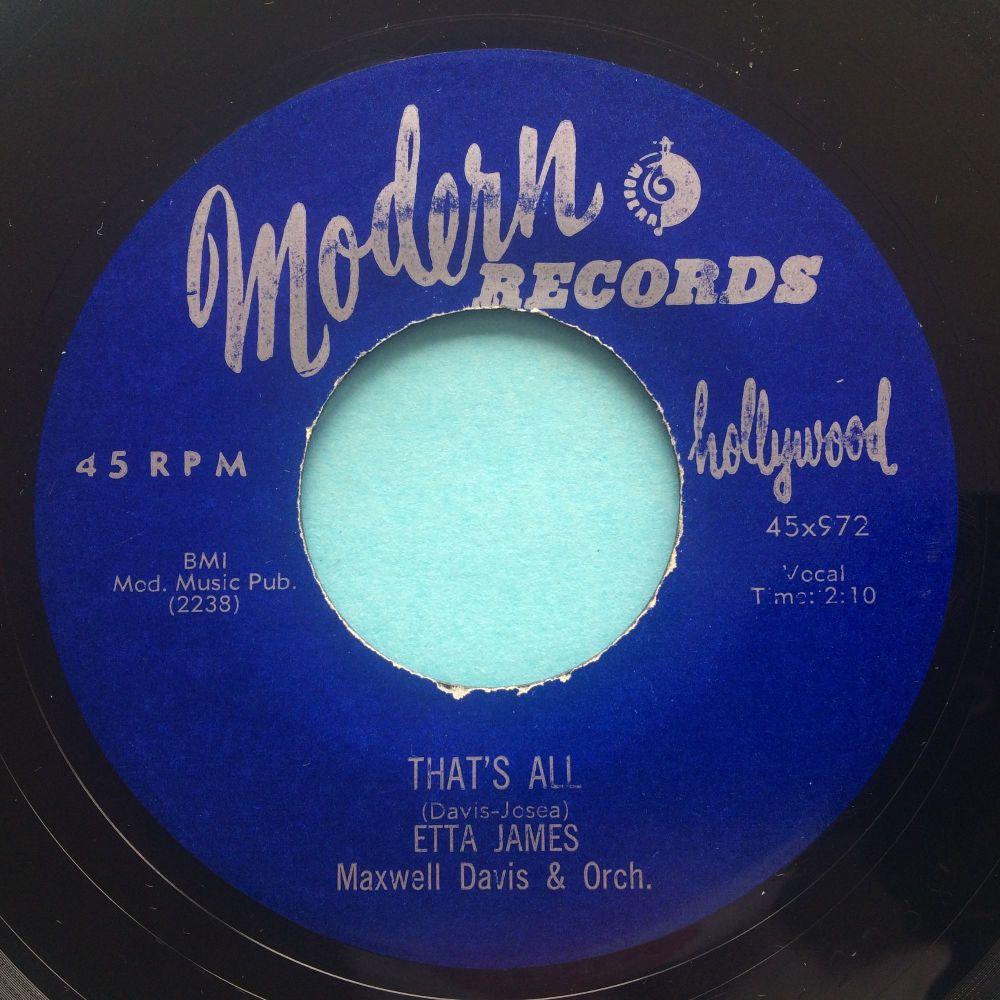 Etta James - That's all - Modern - VG+