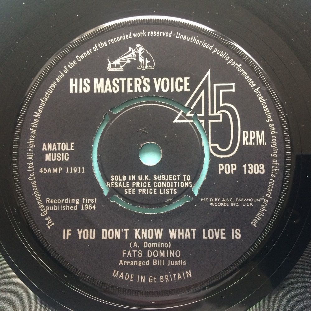 Fats Domino - If you don't know what love is - U.K. HMV - Ex