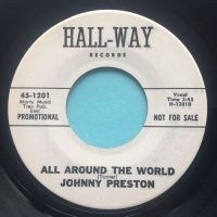 Johnny Preston - All around the world - Hall-way promo - Ex (slight haze on vinyl - nap)