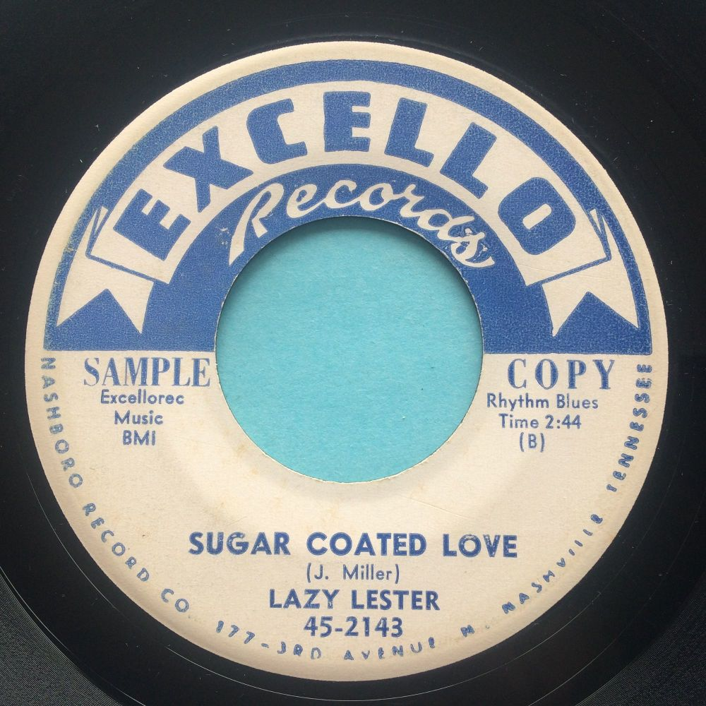 Lazy Lester - Sugar Coated Love b/w I'm a lover, not a fighter - Excello promo - VG+