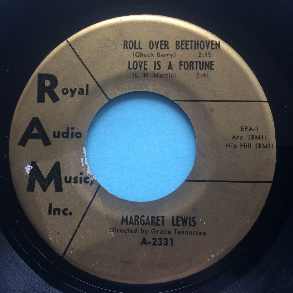 Margaret Lewis - Roll over Beethoven - RAM EP - VG+ (sticker stain on label)