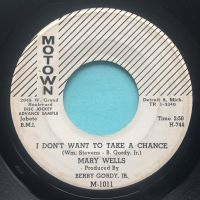 Mary Wells - I don't want to take a chance - Motown promo - VG+