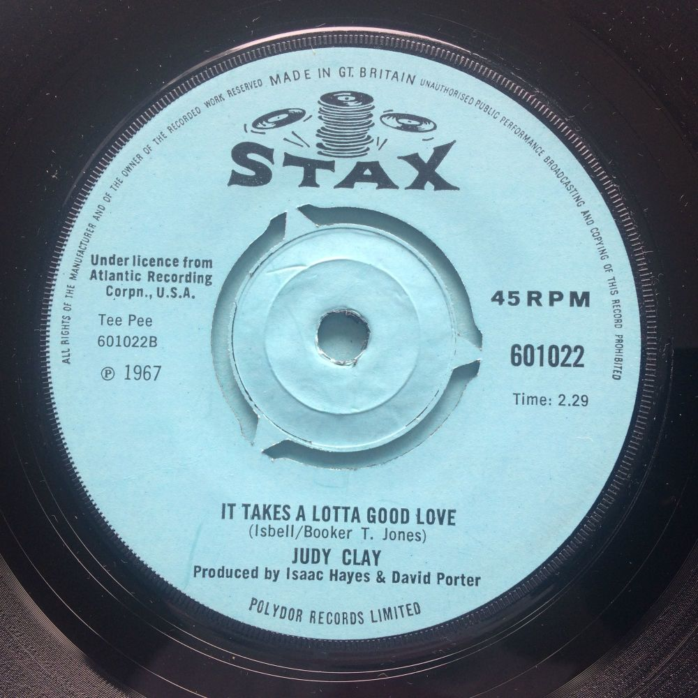 Judy Clay - It takes a lotta good love - U.K. Stax - Ex-