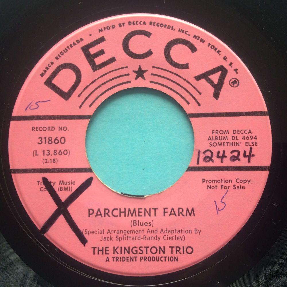 Kingston Trio - Parchment Farm - Decca promo - Ex (xol0