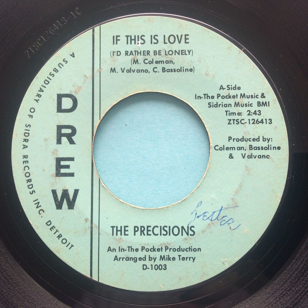Precisions - If this is love - Drew - VG+ (wol)