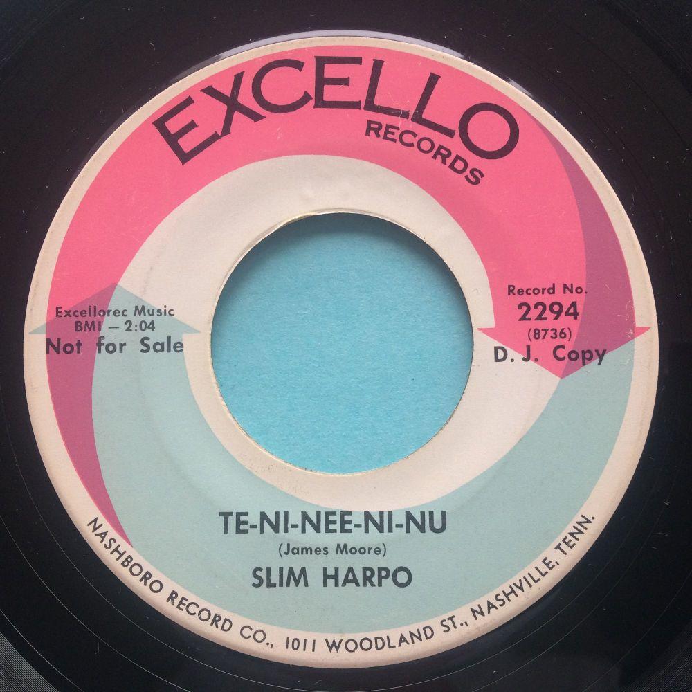 Slim Harpo - Te-Ni-Nee-Ni-Nu - Excello promo - VG+