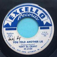 Tony De Grant - You told another lie - Excello promo - VG+
