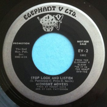 Midnight Movers - Stop look and listen - Elephant V Ltd - Ex