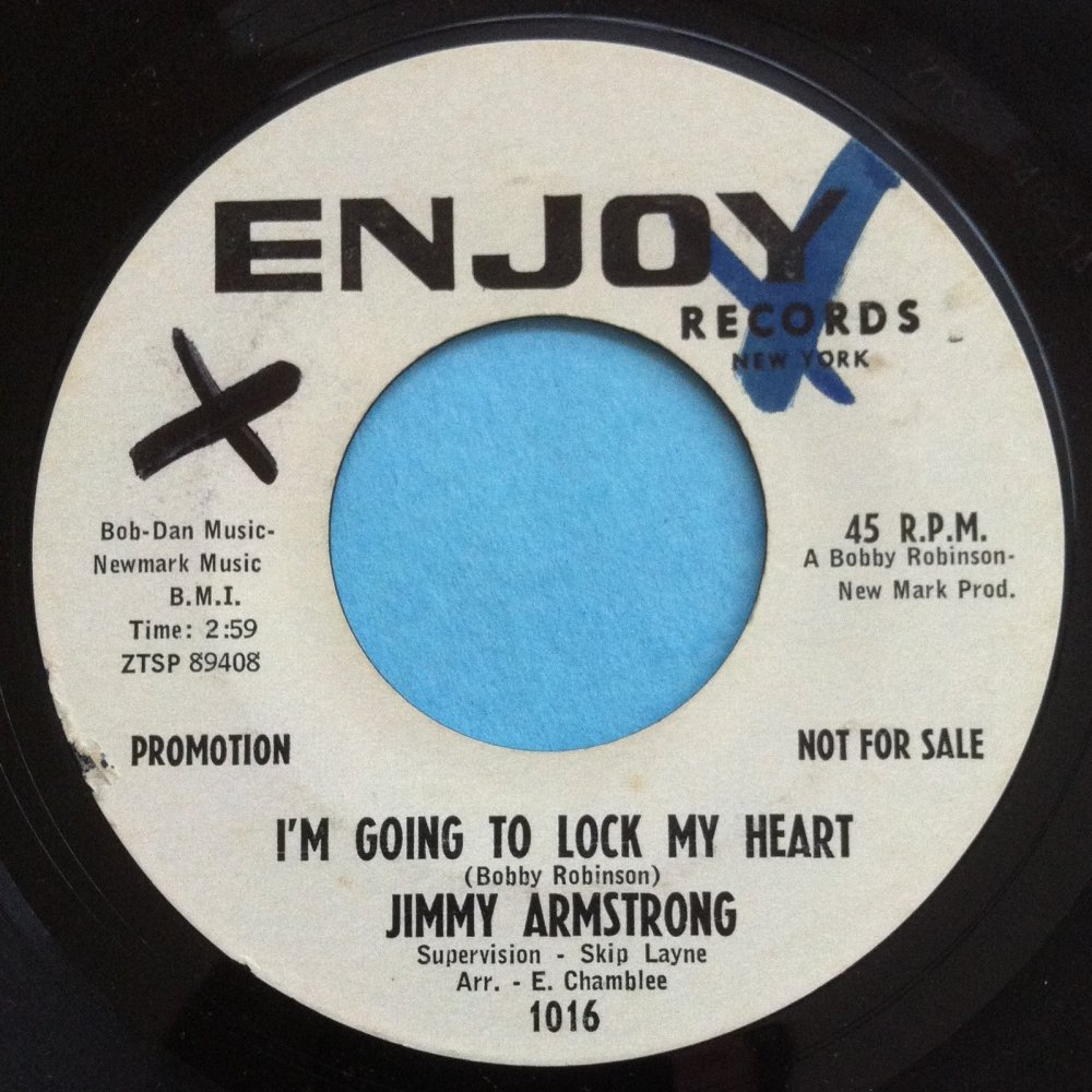 Jimmy Armstrong - I'm gonna lock my heart - Enjoy - PROMO - Ex